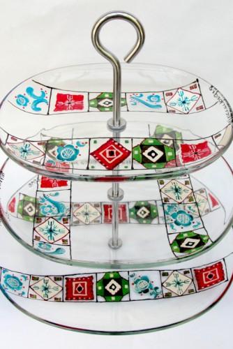 """Suport etajat pentru prajituri """"Traditional Motifs"""""""