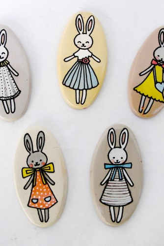 "Brose ceramica ""Little Cute Bunnies"""