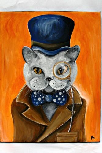 "Tablou ""Professor Meow"""