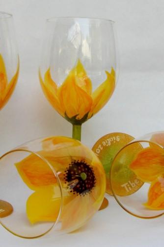 """Set pahare nunta """"Sun Flower"""""""