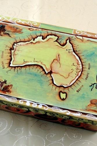 """Cutie de bijuterii """"Map of Australia"""""""