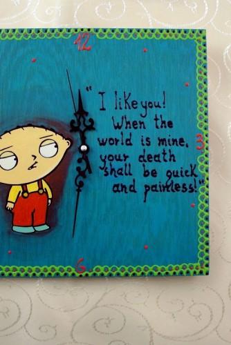 """Ceas de perete """"Stewie"""""""