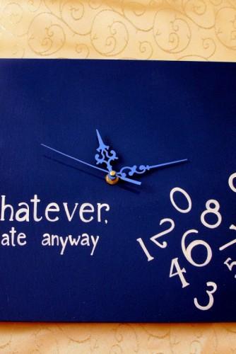 Ceas Whatever  - albastru