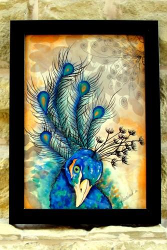 """Ilustratie """"Peacock"""""""