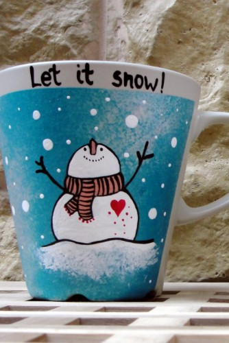 "Cani tematica Craciun ""Let it snow"""