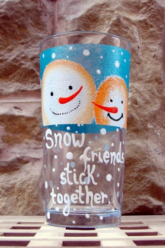 "Pahar tematica Craciun ""Snow friends"""