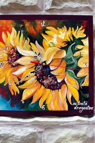 """Ceas de perete """"Sun Flower"""""""