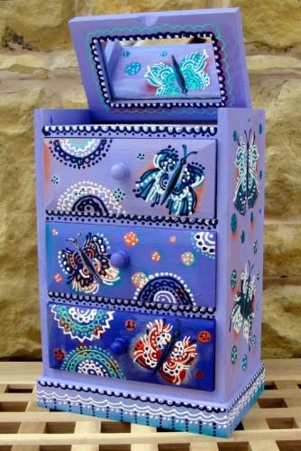 """Dulapior de bijuterii """"Violet Butterflies"""""""