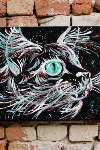 "Tablou ""Galactic Cat"""