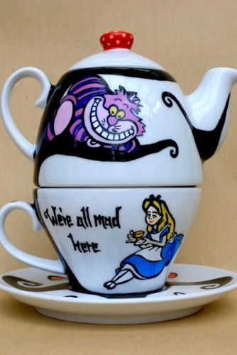 """Set ceai suprapus (Tea for One) """"Alice in Wonderland"""""""