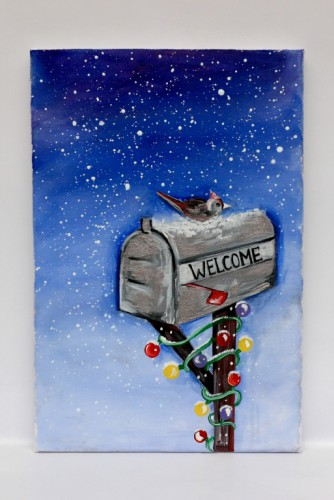 "Tablou Tematica Craciun ""Winter, Welcome!"""