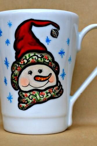 "Cana Tematica de Craciun ""Cute Snowman"""