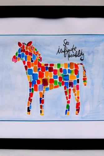"""Ilustratie pentru camera copilului """"Colour Zebra"""""""