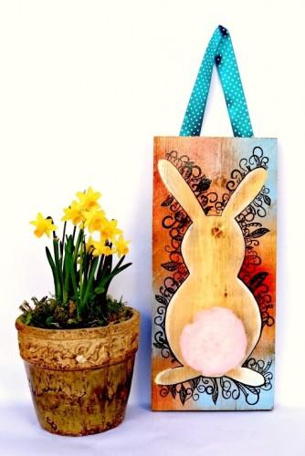 """Placuta lemn decor """"Fluffy Bunny'"""