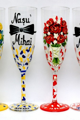 "Set pahare nunta ""Bouquets"""