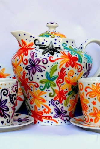 "Set pentru ceai ""All the colours, all the flowers"""