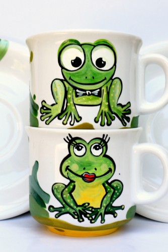 "Set cafea ""Cute Frogs"""