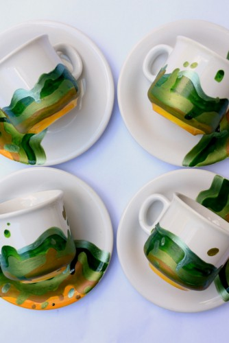 "Set cani cafea ""Greens"""