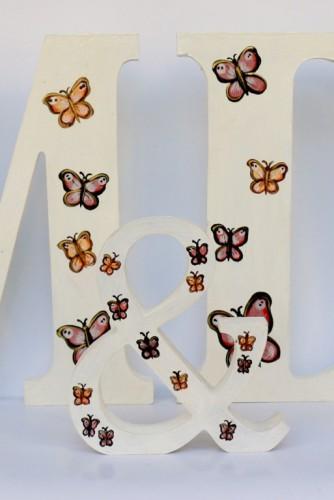 "Litere initiale decor prezidiu ""Autumn Butterflies"""