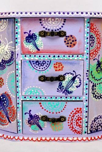 """Dulapior de bijuterii """"Violet Butterflies"""" 2"""