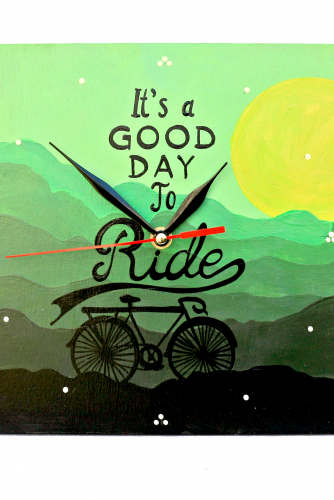 "Ceas perete ""A good day to ride"""