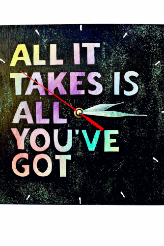 "Ceas de perete ""All it takes"""
