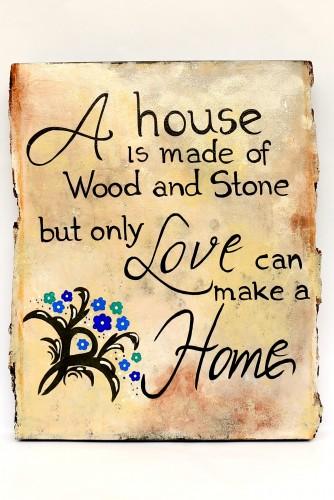 """Placuta decor """"A house..."""""""