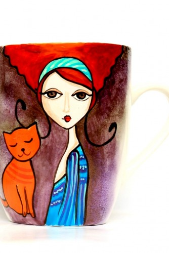"Cani ""Redheaded girl with cat"""