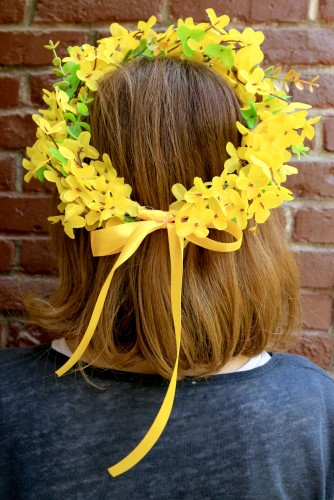 "Coronite domnisoare de onoare ""Yellow Flowers"""