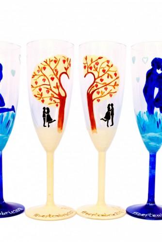 """Pahare nunta """"Tree of Love"""""""