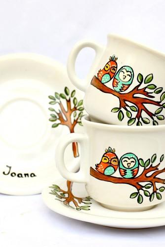 "Set cafea ""Lovely owls"""