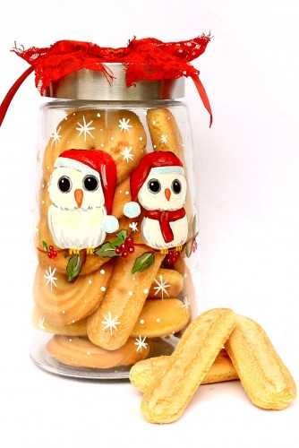 "Cookie Jar ""Winter Owls"""