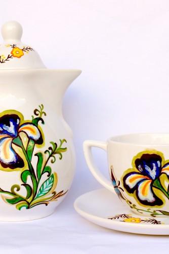 "Set Ceainic ""Iris flower"""