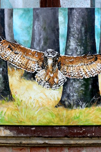 "Tablou panza ""Big Owl"""
