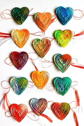 """Martisoare """"Colourful Hearts"""""""