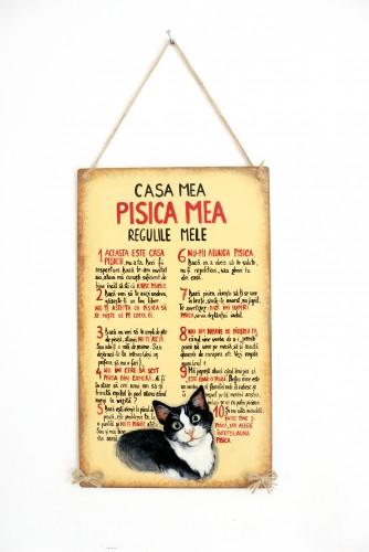 "Placa decor ""Pisica mea"""