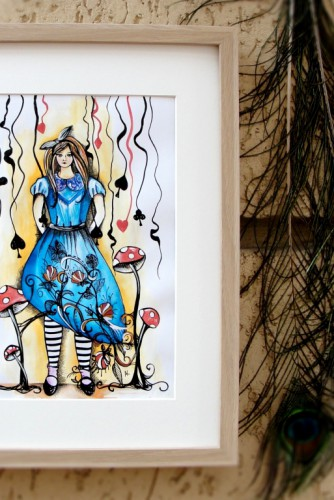 "Ilustratie ""Alice in Wonderland"""