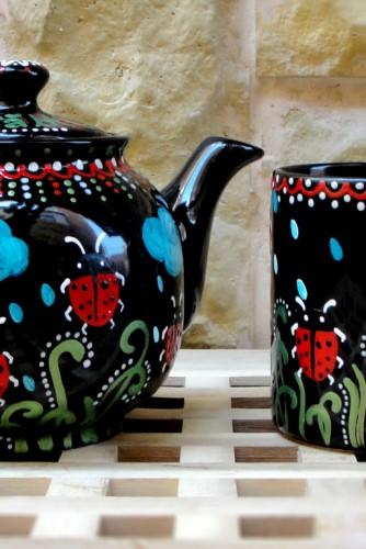 "Set ceai ""Ladybugs"" (tea for one)"