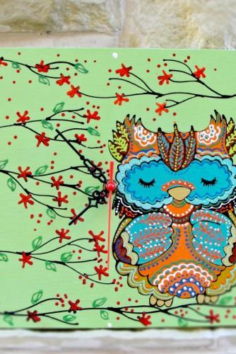 "Ceas de perete ""Very cute owl"""