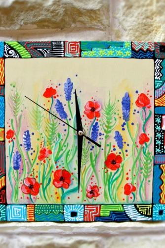 """Ceas de perete """"Flowers"""""""