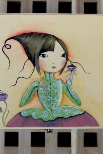 """Cutii de lemn pictate """"Fairy"""""""