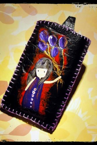 "Husa telefon ""Purple girl"""