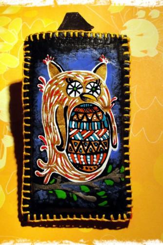"Husa telefon ""Coloured owl"""