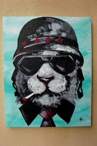 "Tablou ""Aviator Cat"""