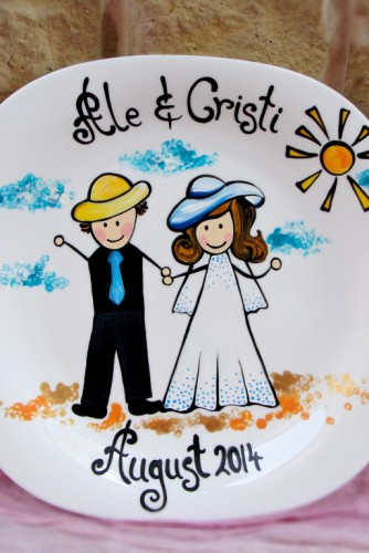 "Wedding Plate ""Happy"""