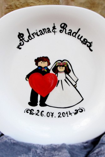 "Wedding Plate ""Heart"""
